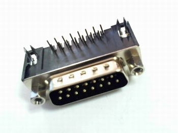 Sub-D connector male haaks