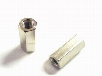 Metalen afstandsbus zeskant 12mm