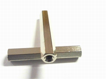 Metalen afstandsbus zeskant 30mm
