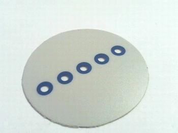 Plakvenster met 5x 3mm transparante doorkijk