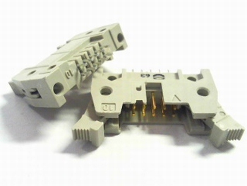 Header male connector 2x5 pins