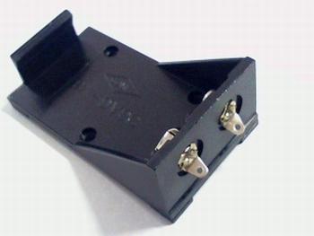 Batterijhouder voor 9 volt batterij met soldeerlippen
