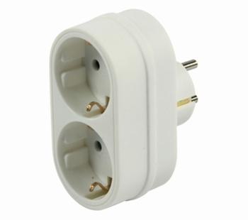 Stopcontact adapter: 1 naar 2 sockets