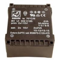 Kwaliteits trafo Hahn 2x 9 volt 14VA