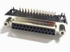 Sub D connector 25 polig female haaks voor printmontage
