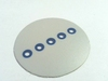 Round sticker with 5x 3mm transparant window