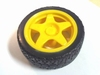 Wheel 65mm yellow for 4mm x 5,5mm axis
