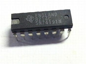 74191 SYNCHRONOUS UP/DOWN COUNTERS WITH DOWN/UP MODE CONTROL