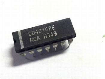 CD4016 Quad Bilateral Switch