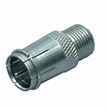 F-connector female naar F-quick-connector