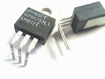 LM317 voltage regulator TO-220 bend 90 degrees
