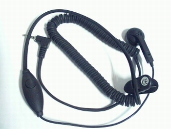 Earphone with microphone and clip