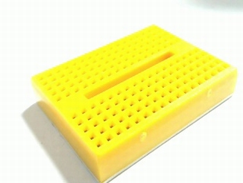 Solderless yellow breadboard mini