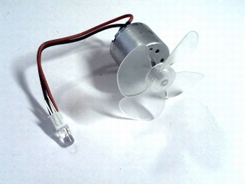 Mini stroomgenerator met LED en propeller