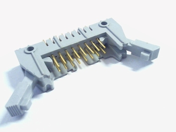 Header male connector 2x8 pins