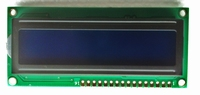LCD Display 16 X 2 white on blue
