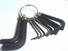 10 pieces Hex key ring